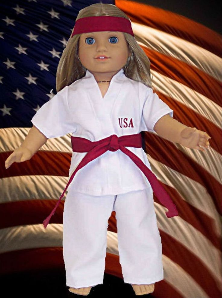 """3 Set Clothes Pants Karate Athletic Outfit 5 Belts for 18/"""" Our Generation Doll"""