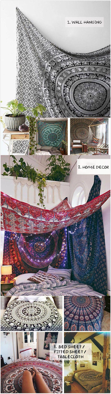 [$ 10.29]   150cm Bohemian Style Thin Chiffon Beach Yoga Towel Mandala Round Bed Sheet Tapestry Tablecloth Silk Scaf