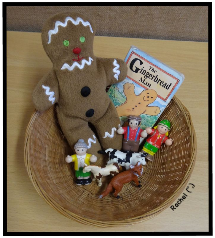 "The Gingerbread Man story basket from Rachel ("",)"