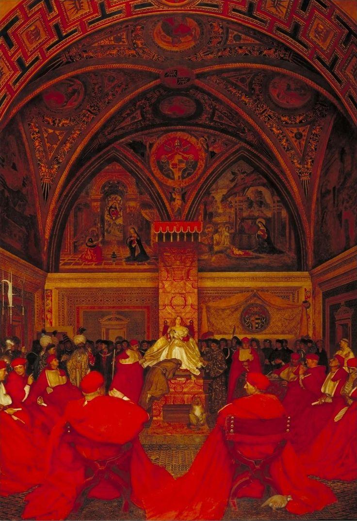 Фрэнк Кадоган Купер (Frank Cadogan Cowper), 1877-1958 . Англия.Лукреция Борджиа царствует в Ватикане в отсутствие папы Александра VI