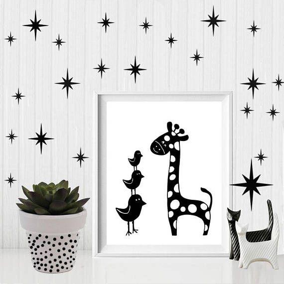 Giraffe printable safari nursery decor giraffe nursery