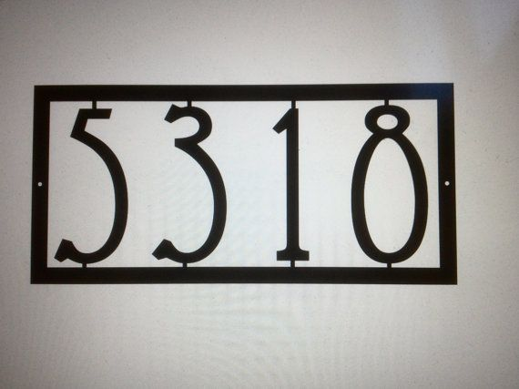 Mission House Numbers / Art Deco House Number / Modern House numbers /