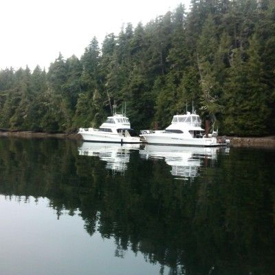 Two Rivieras R-pod and Isurus in prime salmon fishing territory in British Columbia, Canada. By Michael Rauch