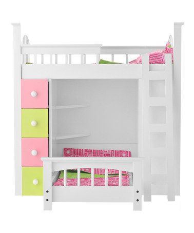 Cutest bed for American Girl Dolls!  Doll Loft Bed Set by Laurent Doll
