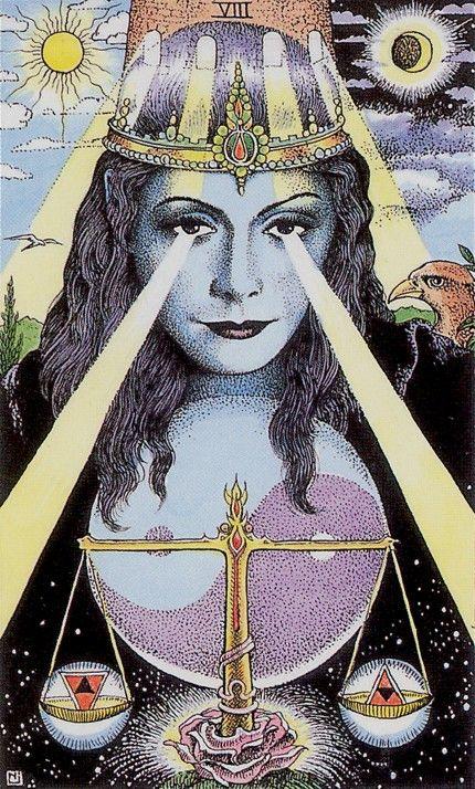 XI. Justice: Cosmic Tarot