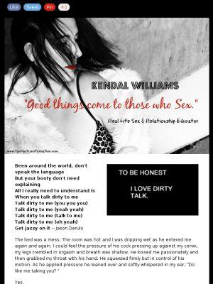 """Kendal Williams discusses """"erotic dirty talk"""""""