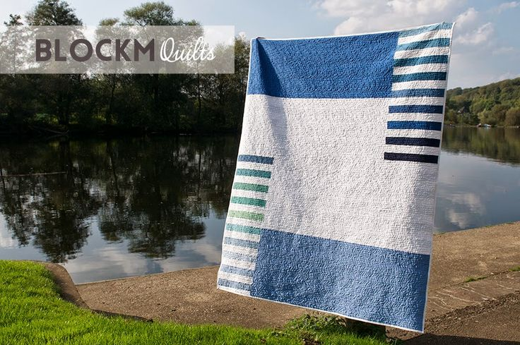 "The reverse side of the ""Regatta Quilt"" by Daniela, via block M quilts blog  (10/31/14)"