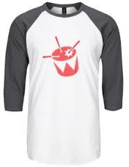 triple j - 3/4 Length Raglan T-Shirt.Exclusive to ABC Shop Online, show your support for triple j with the triple j Raglan T-Shirt. This tee is white with grey 3/4 sleeves and brandishes the red triple j logo front and centre. Available in Men's sizes small to extra large. $34.99