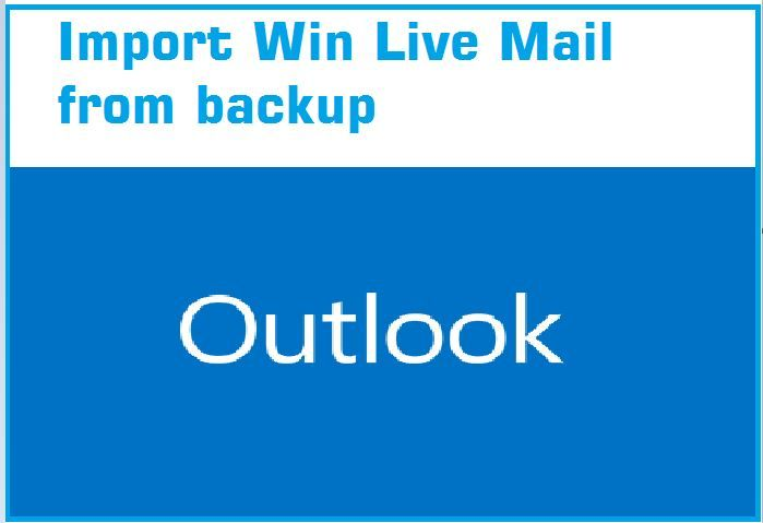 The Simplest way to copy your win live mail email Account With Contact and message in Windows Live Mail 2012 and Windows MS Office 2013.see post to know how to import email backup in win live mail