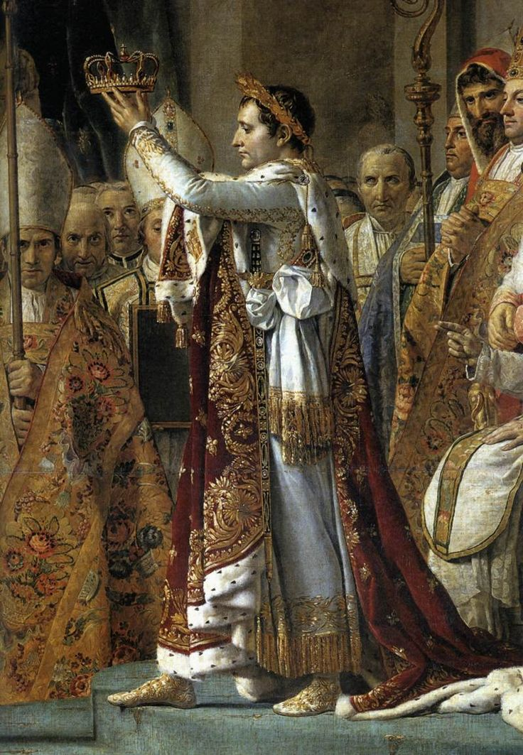 Consecration of the Emperor Napoleon I - by Jacques-Louis David. Jacques Louis David became well known for his paintings of Napoleon