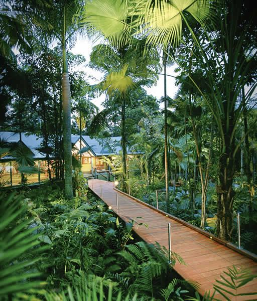 Entrance to luxury accommodation in the Daintree - Silky Oaks Lodge
