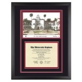 San Diego State University California Diploma Frame with SDSU Art PrintBy Old School Diploma Frame Co.
