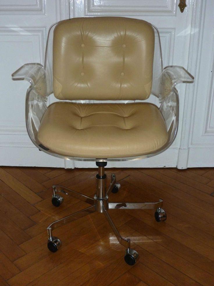 TECTA D49 Schreibtischsessel Schreibtischstuhl Drehstuhl Stuhl Acryl Plexiglas