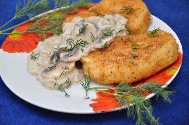 Картофельные котлеты с грибной подливкой / Женское счастье!
