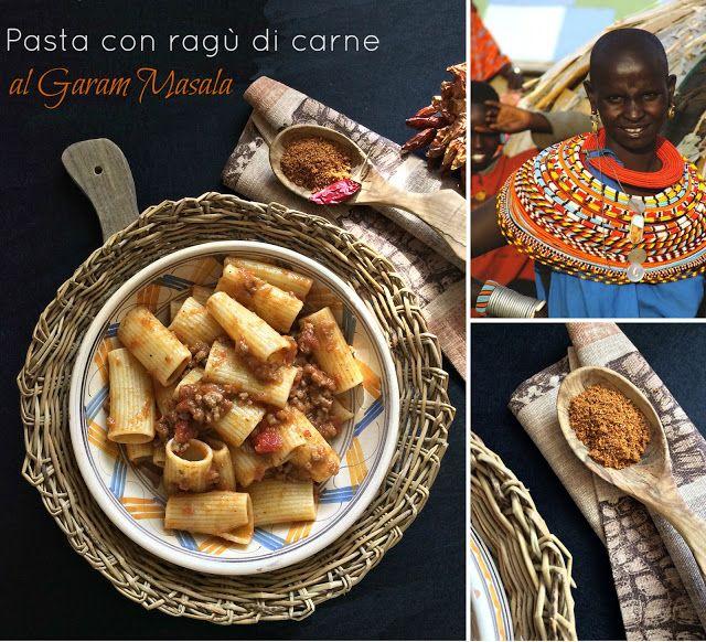 Briciole di Sapori: Pasta con ragù di carne al garam masala. E la casa...