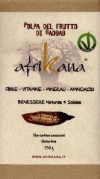 Albero della vita o magico. Così gli africani chiamano il Baobab, che è conosciuto per le sue molteplici proprietà benefiche, in particolar modo per il suo alto contenuto in fibra e vitamina C, ma anche altre vitamine essenziali, come la Riboflavina (Vit.B2), e la Niacina. Ha inoltre proprietà antiossidanti, antinfiammatorie ed epatoptotettive.  http://www.macrolibrarsi.it/prodotti/__polpa-di-baobab-afrikana-250-g-libro.php?pn=3148