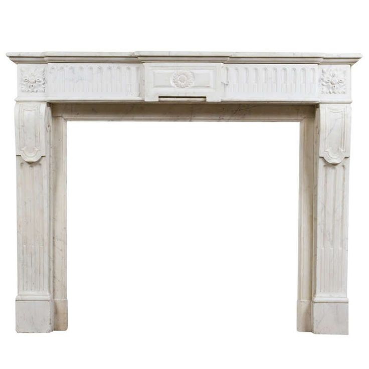 Louis XVI Marble Mantle   From a unique collection of antique and modern fireplaces and mantels at https://www.1stdibs.com/furniture/building-garden/fireplaces-mantels/
