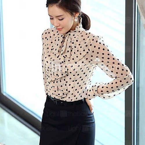 Polka dots blouse to combine with different 50s skirt models - Camicetta a pois da abbinare con gonne di vari modelli anni 50