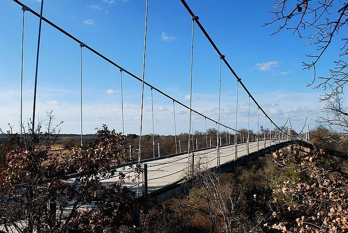 Regency swinging bridge in texas