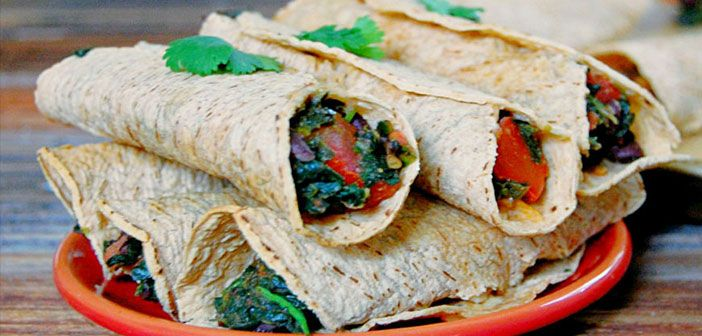 Black Bean and Spinach Baked Taquitos