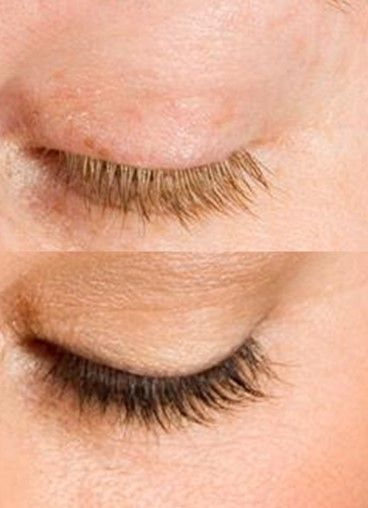 Eyelash Brow Tint before and after!
