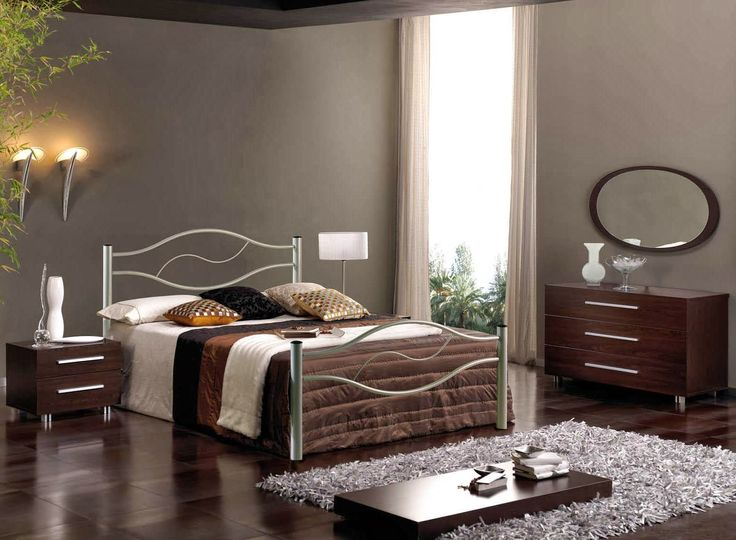 Bedroom Design Outstanding Small Decorating Ideas With Metal Frame Sleigh Bed Also Comforter And Side Table French Wired Lamp Lowboy Chest