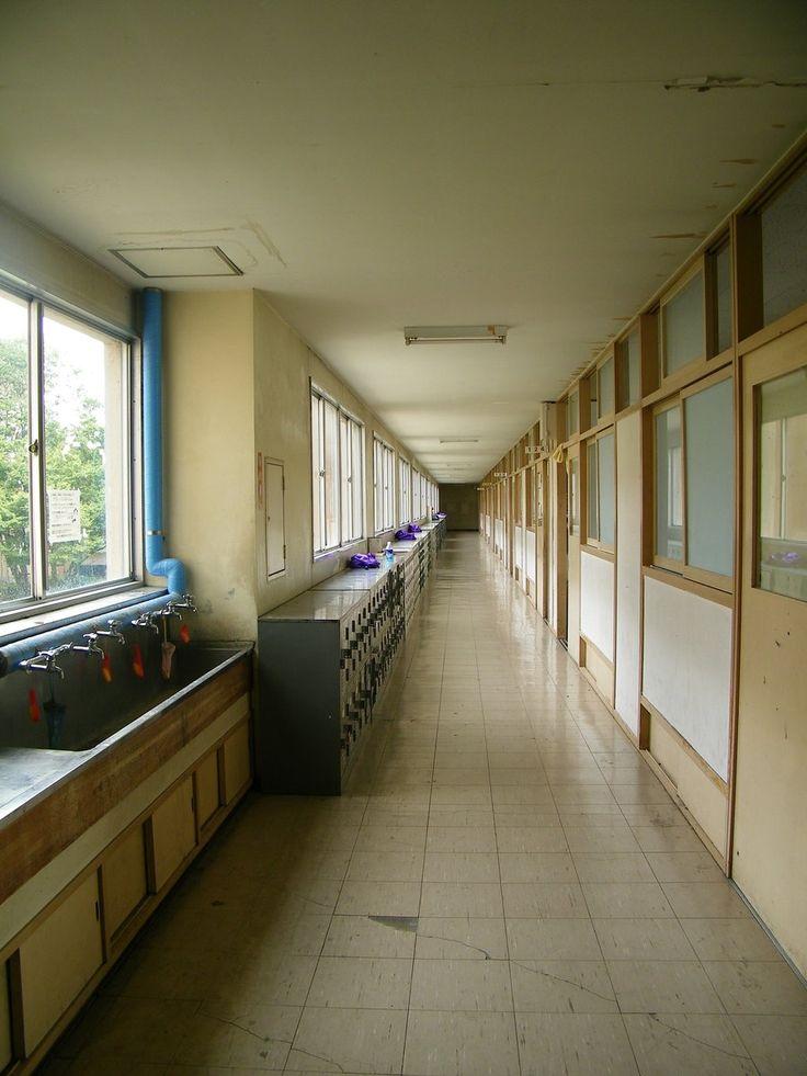 Japanese School Hallway by *JeanneBeck on deviantART