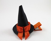 Party Hat Hair Clip - Hat Ribbon Sculpture - Mini Party Hat - Girl Party Favors - Party Hair Bow - YOU PICK ONE. $4.00, via Etsy.
