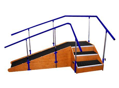 Escala de esquinas con rampa