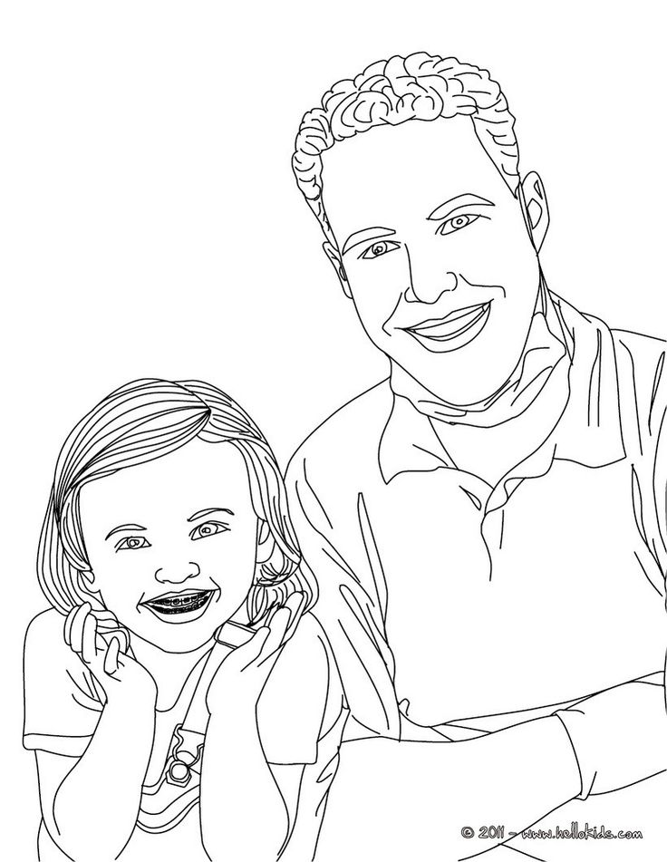 Dentist and kid with dental braces coloring page. Amazing way for kids to discover job. More original content on hellokids.com