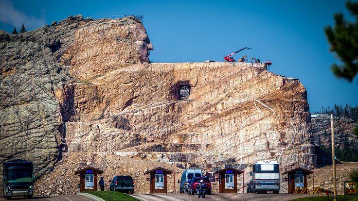 Crazy Horse Memorial - BillChizekPhotography.com  The entrance gate to the Crazy Horse Memorial in the Black Hills of South Dakota.