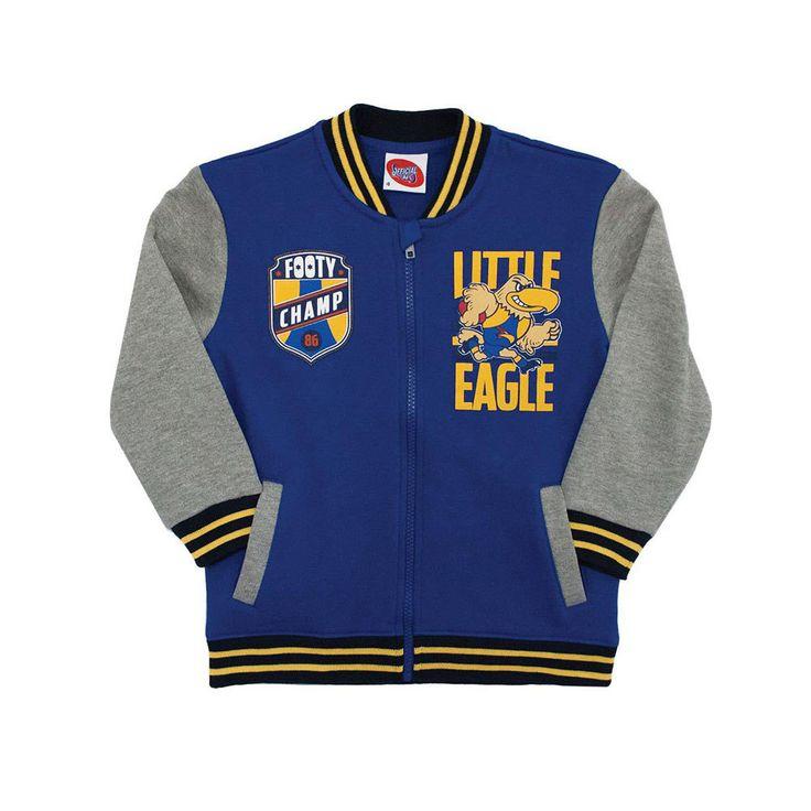 AFL Toddlers Varsity Zip Top West Coast Eagles
