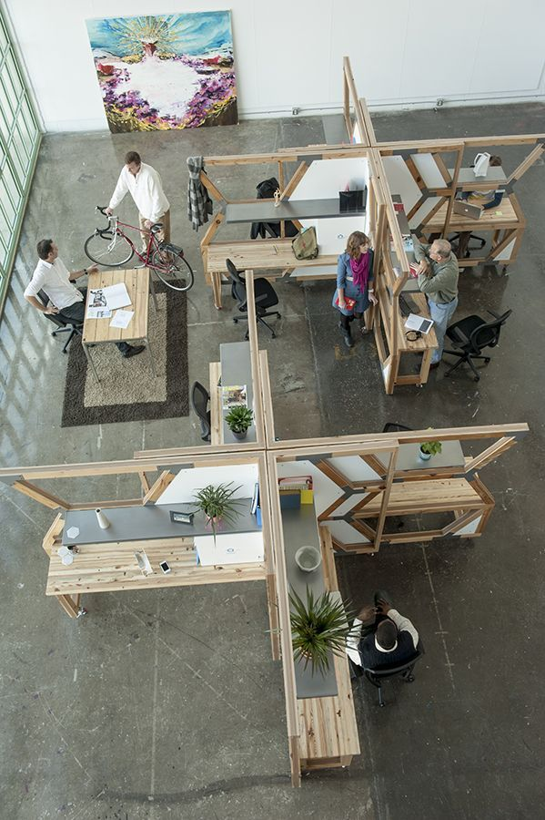 HIVE can be arranged in many configurations based on individual work style and team environment (photo: r.muller)