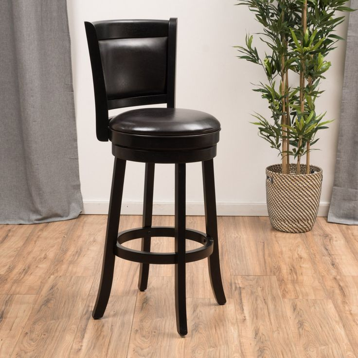 Best Selling Home Bryan 29 in. Leather Swivel Bar Stool - 296631