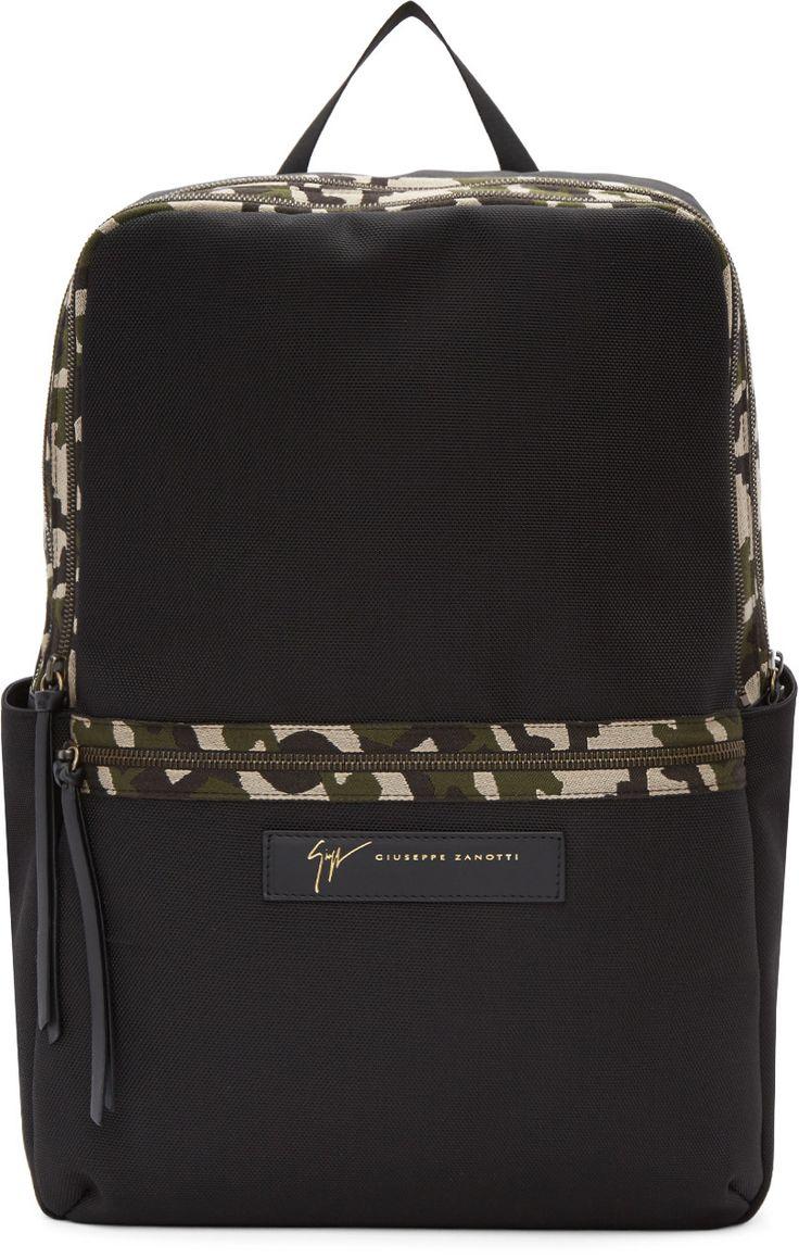 Giuseppe Zanotti - Black Camo Backpack