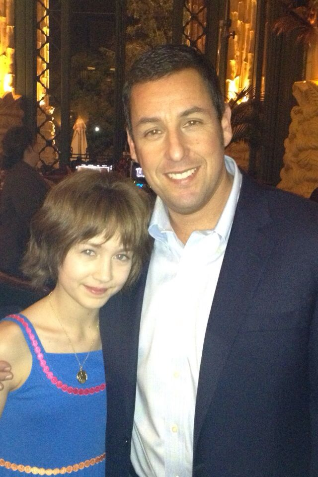 Emma Fuhrmann (Espn) and Adam Sandler in Blended