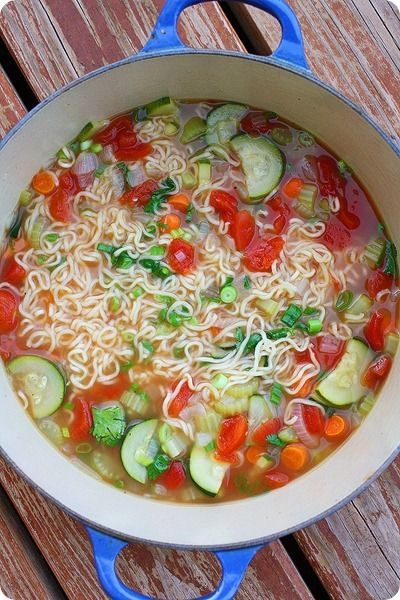 really really good vegetable ramen soup.