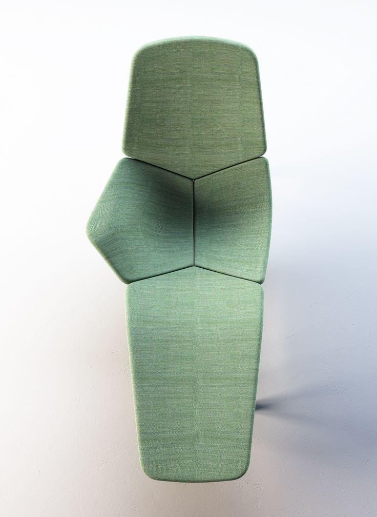 Chaise longue en tissu ATOLL by Tacchini Italia Forniture design Patrick Norguet