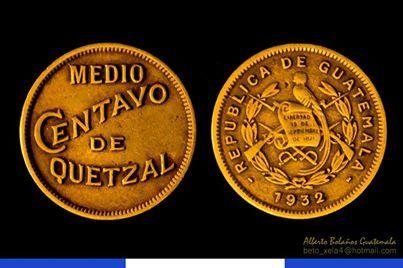 1/2 centavo de Quetzal, moneda de Guatemala