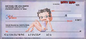 Betty Boop - Just Say Boop Checks - clicks through larger detail view in new window