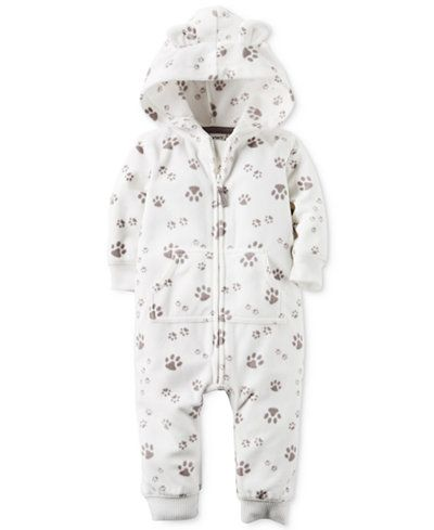 1b354eab99d2d1 ... sneakers 52c83 c617b  official store carters baby boys paw print hooded  coverall carters baby boys paw print hooded coverall