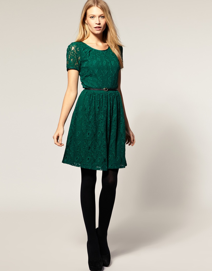 Lace dress christmas dress amp black tights oasis colored lace dress