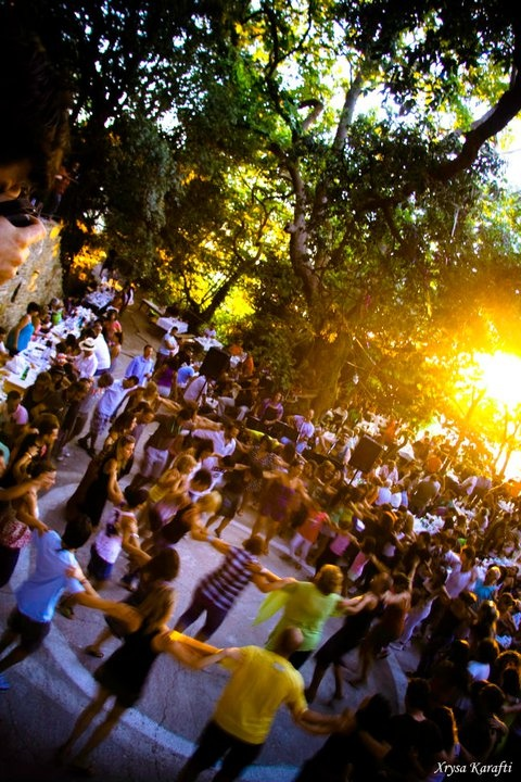 Dancing in Ikaria, Greece