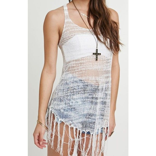 RVCA Radiant One Cover Up Dress (£27) ❤ liked on Polyvore featuring outfits, dresses, white, beach cover up, swimsuit cover ups, crochet swimsuit cover up, swimsuit cover up and white beach cover up