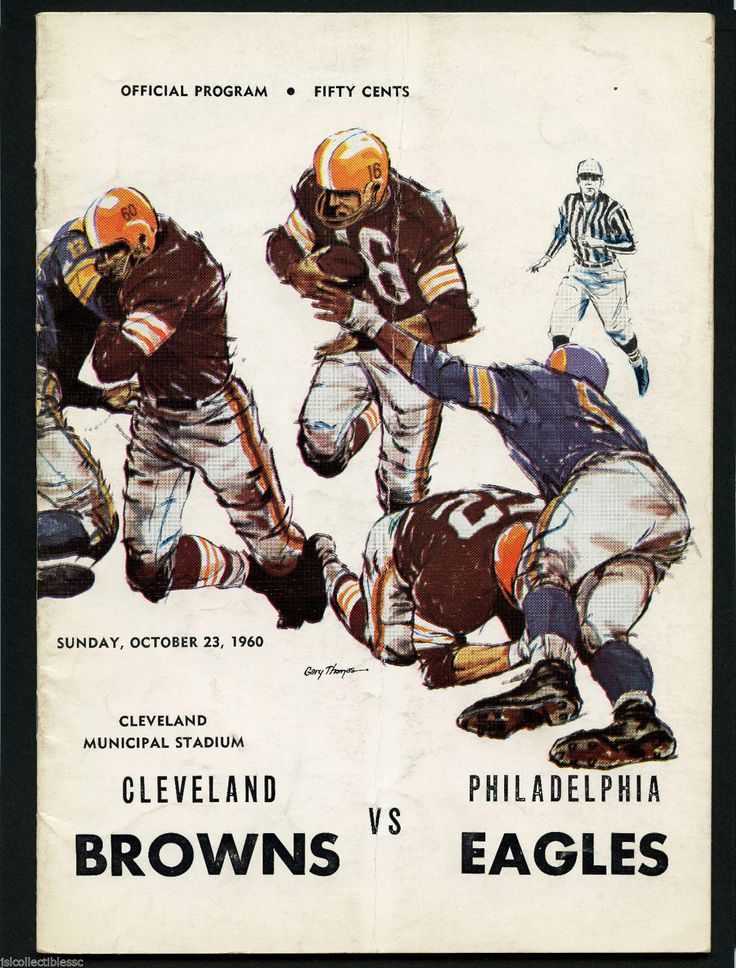 1960 CLEVELAND BROWNS vs PHILADELPHIA EAGLES NFL FOOTBALL OFFICIAL PROGRAM