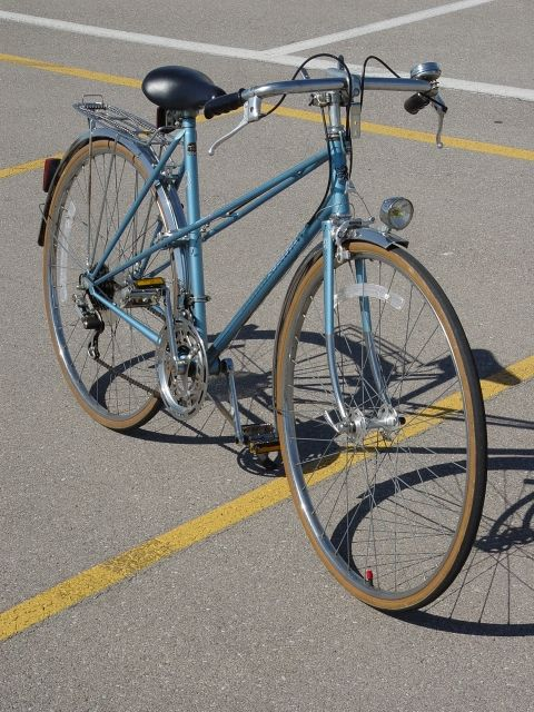 My bike looks like this, but it needs some work. I love my mixte!
