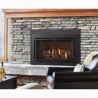 "Majestic Ruby 30"" Medium Direct Vent Gas Insert with IntelliFire Plus Ignition System  Gas Fireplace Inserts"