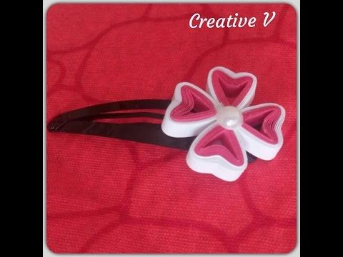 How to make Paper Quilling Flower/ Design 5 / Tutorial - YouTube