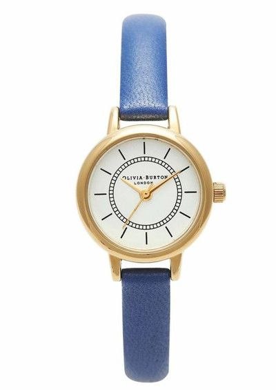 Olivia Burton Colour Crush Watch - Gold & Electric Blue main image
