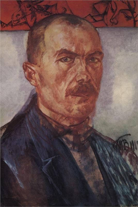 Self-portrait, 1912 by Kuzma Petrov-Vodkin